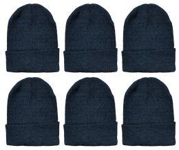 Yacht & Smith Unisex Winter Warm Beanie Hats In Solid Black