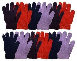Yacht & Smith Women's Soft Warm And Fuzzy Solid Color Winter Gloves