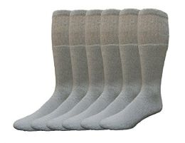 Yacht & Smith Men's Cotton 28 Inch Tube Socks, Referee Style, Size 10-13 Solid Gray