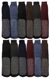 Yacht & Smith Mens Thermal Non Slip Tube Socks, Gripper Bottom Socks