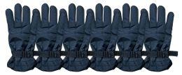 Yacht & Smith Men's Winter Warm Gloves, Fleece Lined With Black Gripper