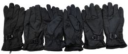 Yacht & Smith Men's Winter Ski Gloves , Fleece Lined With Zipper Pocket