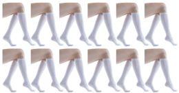 Yacht & Smith Women's White Only Long Knee High Socks, Sock Size 9-11