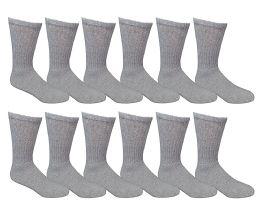 Yacht & Smith Women's Cotton Crew Socks Gray Size 9-11