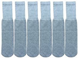 Yacht & Smith Kids Solid Tube Socks Size 6-8 Gray