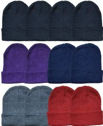 Yacht & Smith Ladies Winter Toboggan Beanie Hats In Assorted Colors