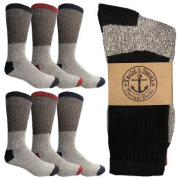 Yacht & Smith Womens Cotton Thermal Crew Socks , Warm Winter Boot Socks Size 9-11