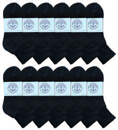 Yacht & Smith Women's Premium Cotton Ankle Socks Black Size 9-11