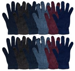 Yacht & Smith Men's Winter Gloves, Magic Stretch Gloves In Assorted Solid Colors