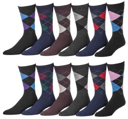 Yacht & Smith Men's Designer Pattern Dress Socks, Cotton Blend