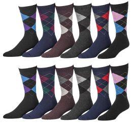 Yacht & Smith Men's Designer Pattern Dress Socks, Cotton Blend