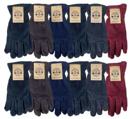 Yacht & Smith Mens Winter Fleece Gloves With Snug Fit Cuff