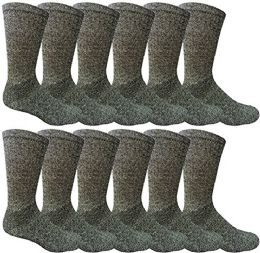 12 Pairs Value Pack Of Wholesale Sock Deals Mens Ringspun Cotton 2tone Twisted Socks, Navy Blue