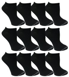 Yacht & Smith Womens Light Weight No Show Low Cut Breathable Ankle Socks Solid Black