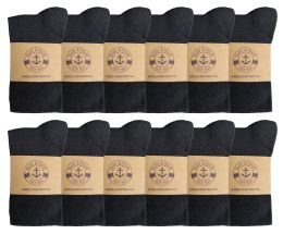 Yacht & Smith Womens Knee High Socks, Cotton, Flat Knit, Solid Colors Black