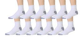 Value Pack Of Wholesale Sock Deals Mens Ankle Socks, White / Gray 10-13