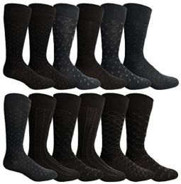 Yacht & Smith Mens Fashion Designer Dress Socks, Cotton Blend Assorted