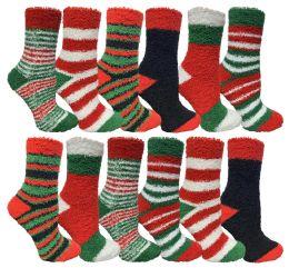 Yacht & Smith Christmas Fuzzy Socks , Soft Warm Cozy Socks, Size 9-11