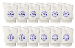 Yacht & Smith Kids Value Pack Of Cotton Crew Socks Size 2-4 White