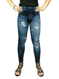 Yacht & Smith Women's Denim Jeggings Fashion Leggings One Size (style a)