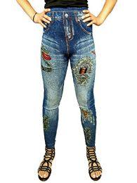 Yacht & Smith Women's Denim Jeggings Fashion Leggings One Size (style d)