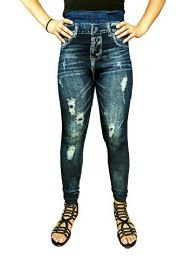 Yacht & Smith Women's Denim Jeggings Fashion Leggings One Size (style f)