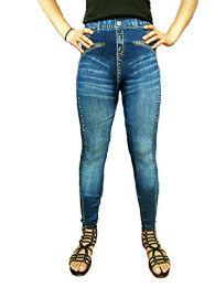 Yacht & Smith Women's Denim Jeggings Fashion Leggings One Size (style g)