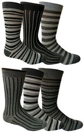 6 Pairs Of Yacht&smith Dress Socks, Colorful Patterned Assorted Styles (pack a)