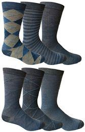 6 Pairs Of Yacht&smith Dress Socks, Colorful Patterned Assorted Styles (pack e)