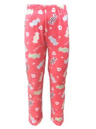 Yacht & Smith Women's Butter Soft Fleece Fuzzy Lounge Pants One Size Lips Print (sweets And Hearts Print)