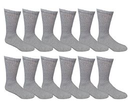 Yacht & Smith Women's Cotton Crew Socks Gray Size 9-11