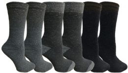 Yacht&smith 6 Pairs Womens Boot Socks, Thick Warm Winter Crew Sock (6 Pairs, Assorted e)