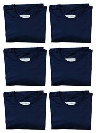 Mens Cotton Crew Neck Short Sleeve T-Shirts Navy, Large