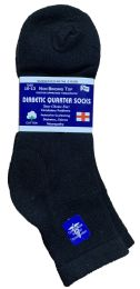 Yacht & Smith Men's Loose Fit NoN-Binding Soft Cotton Diabetic Quarter Ankle Socks,size 10-13 Black