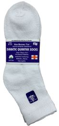 Yacht & Smith Women's Diabetic Cotton Ankle Socks Soft NoN-Binding Comfort Socks Size 9-11 White