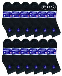 Yacht & Smith Women's Diabetic Cotton Ankle Socks Soft NoN-Binding Comfort Socks Size 9-11 Black