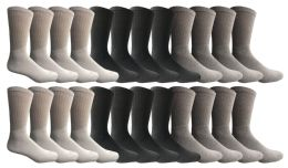 Yacht & Smith Men's Sports Crew Socks, Assorted Colors Size 10-13
