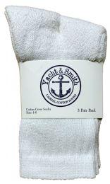Yacht & Smith Kids Cotton Crew Socks White Size 4-6