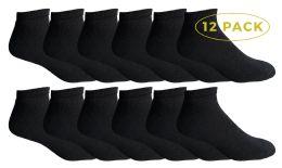 Yacht & Smith Men's No Show Ankle Socks, Cotton. Size 10-13 Black