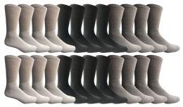 Yacht & Smith Women's Sports Crew Socks, Size 9-11, Assorted