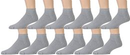 Yacht & Smith Men's No Show Ankle Socks, Cotton . Size 10-13 Gray