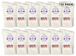Yacht & Smith Kids Cotton Crew Socks White Usa Size 6-8