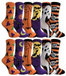 Yacht & Smith Womens Halloween Crew Socks , Size 9-11