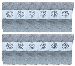 Yacht & Smith Kids Gray Solid Tube Socks Size 4-6