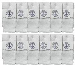 Yacht & Smith Kids White Solid Tube Socks Size 4-6