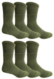 Yacht & Smith Military Grade Wick Dry Crew Socks ,heavy Duty Boot Sock, Army Green