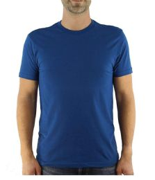 Mens Cotton Crew Neck Short Sleeve T-Shirts Royal Blue, X-Large