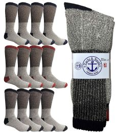 Yacht & Smith Mens Thermal Socks, Warm Cotton, Sock Size 10-13