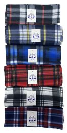 Yacht & Smith Unisex Warm Winter Plaid Fleece Scarfs Assorted Colors Size 60x12