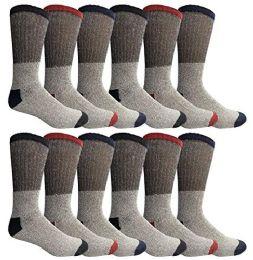 Yacht & Smith Womens Cotton Thermal Crew Socks , Warm Winter Boot Socks 10-13